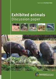 Exhibited animals discussion paper - Department of Primary Industries