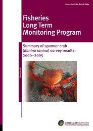 Summary of spanner crab (Ranina ranina) survey results: 2000-2005