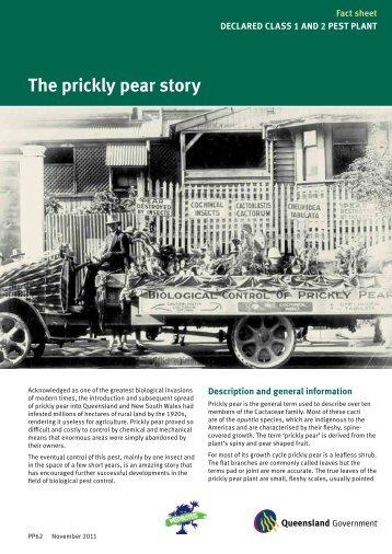 The prickly pear story - Department of Primary Industries