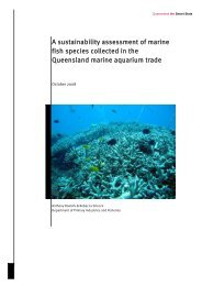 A sustainability assessment of marine fish species collected in the ...