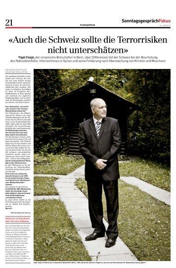«Auch die Schweiz sollte die Terrorrisiken nicht unterschätzen»