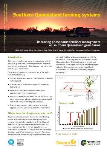 Phosphorus fertiliser mangement - Grain and Graze II