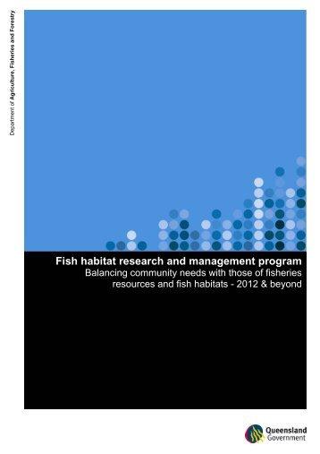 Fish habitat research and management program - Department of ...