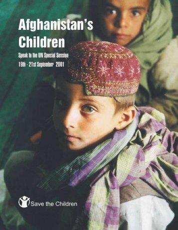Afghanistan's Children - Save the Children