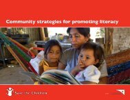 Community strategies for promoting literacy - Save the Children