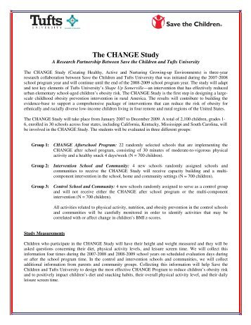 The CHANGE Study - Save the Children