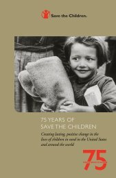 75 YEARS OF SAVE THE CHILDREN