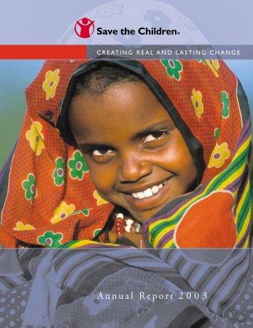 Annual Report 2003 - Save the Children