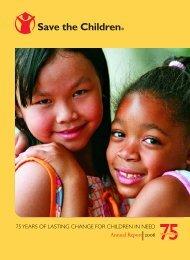 Annual Report 2006 - Save the Children