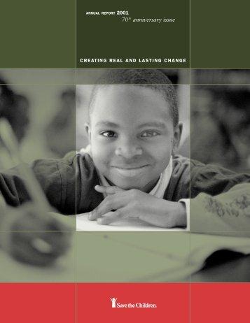 Annual Report 2001 - Save the Children