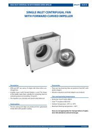 single inlet centrifugal fan with forward curved impeller - Tangra