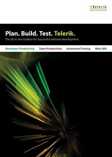 Telerik portfolio Brochure