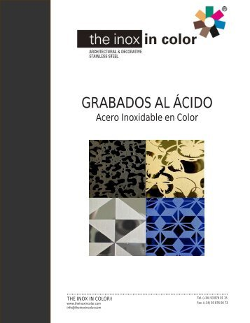 GRABADOS AL ÁCIDO - The inox in color