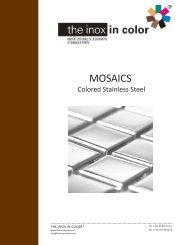 Stainless steel tiles and mosaics - The inox in color