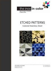 ETCHED PATTERNS - The inox in color