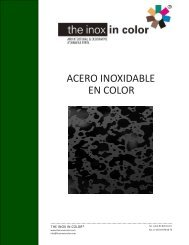 ACERO INOXIDABLE EN COLOR - The inox in color