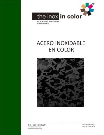 ACERO INOXIDABLE EN COLOR - The inox in color