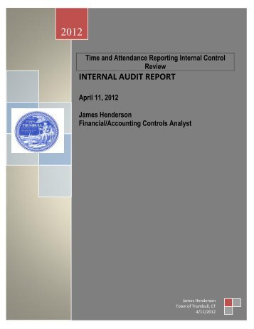 Internal Audit Report - Time and Attendance Reporting - Trumbull
