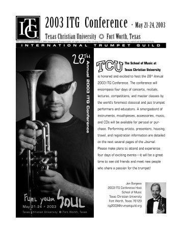 Conference Registration [pdf] - International Trumpet Guild