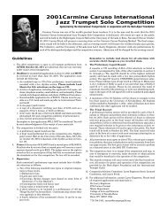 2001Carmine Caruso International Jazz Trumpet Solo Competition