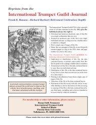 Richard Burkart - International Trumpet Guild