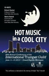 PDF of full conference program book - International Trumpet Guild