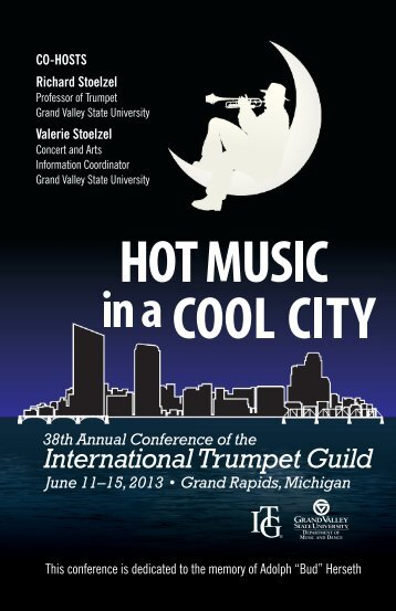 PDF of full conference program book - International Trumpet Guild