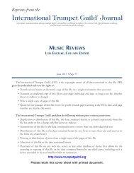 Music Reviews - International Trumpet Guild
