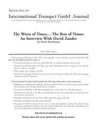 An Interview with David Zauder - International Trumpet Guild