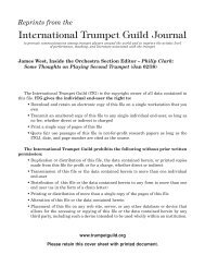 Inside the Orchestra Section - International Trumpet Guild