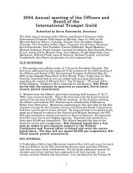 2004 - International Trumpet Guild