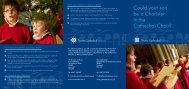 Chorister pdf leaflet - Truro Cathedral