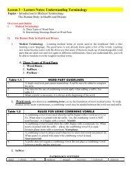 Lesson 3 Lecture Notes website - Trussville City Schools