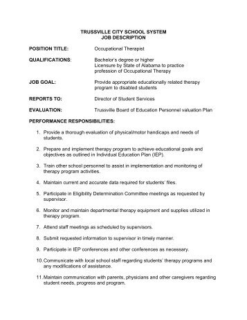 Job Description  Physical Therapist  Moore County School System