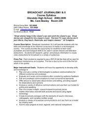broadcast_journalism - Trussville City Schools
