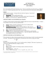 ap* physics b motion and force: dynamics - Trussville City Schools