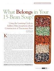 WhatBelongsin Your 15-Bean Soup? - NSTA Learning Center