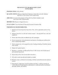 Job Description - Utility Worker - Trussville City Schools