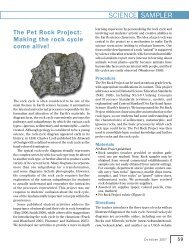 The Pet Rock Project - NSTA Learning Center
