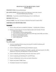 Job Description - Trussville City Schools