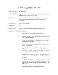 Job Description - PC Technician - Trussville City Schools