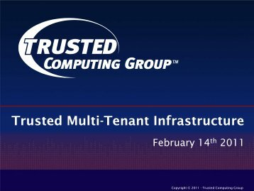 Overview Summary - Trusted Computing Group