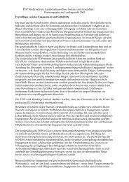 FDP Niedersachsen, Landesfachausschuss Soziales und Gesundheit