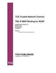 TNC IF MAP Binding for SOAP Version 2.0 - Trusted Computing Group