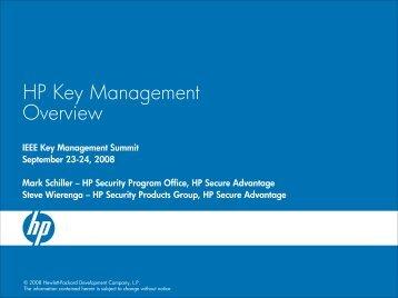Schiller, Mark (HP) - IEEE KM Summit v3 - IEEE Key Management ...