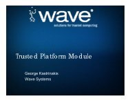 Trusted Platform Module (TPM) - Trusted Computing Group