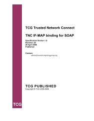 TNC IF-MAP Binding for SOAP Version 1.0, Revision 25 - Trusted ...