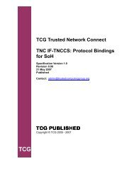 TCG Trusted Network Connect TNC IF-TNCCS: Protocol ... - Opus One