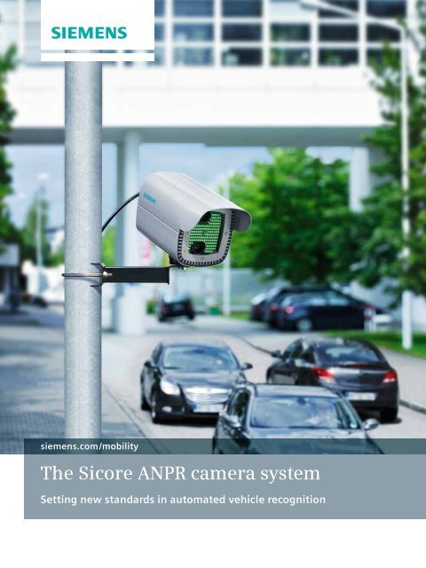 The Sicore ANPR camera system - Siemens Mobility