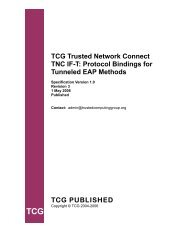 TNC IF-T - Trusted Computing Group
